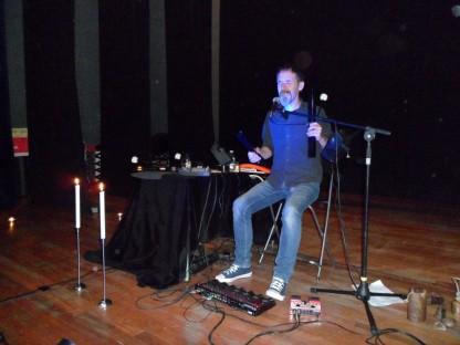 Neonymus, en pleno concierto el sábado en Villamuriel