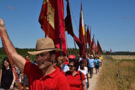 Desfile de pendones historicos, organizado por la diputación de Palencia
