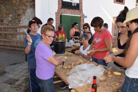 Proceso de pelado de las patatas